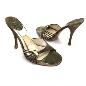 Dior high heel slides